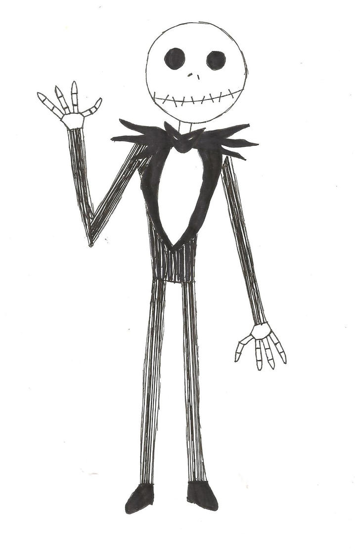 Nightmare before christmas jack coloring pages - Jack Skeleton By Gatty8 On Deviantart