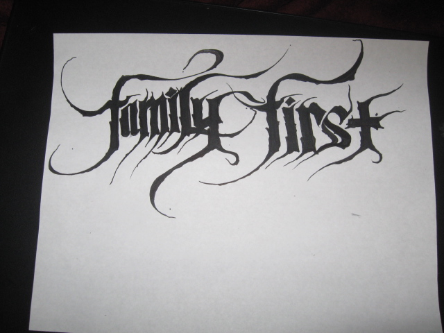 Family First Tattoo Design By Xlos1048 On DeviantArt