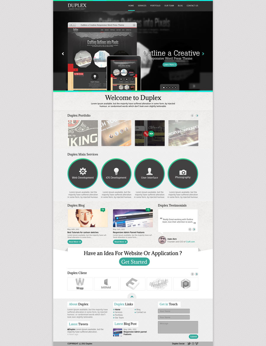 Duplex Website Template Mock up Design by sahilmomin5 on DeviantArt