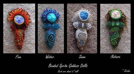All 4 Mini Goddesses by jardan