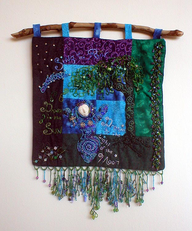 Beaded Goddess Tapestry by jardan