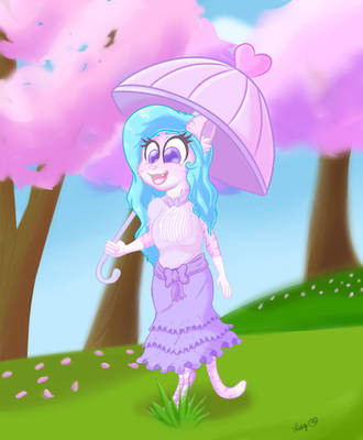 A Stroll Through Cherry Blossom Park by luciusheart