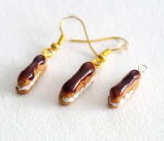 eclair jewelry set by BadgersBakery