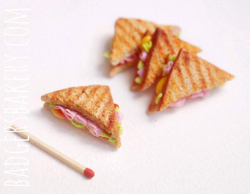 miniature clay sandwiches