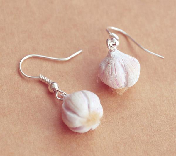 Garlic Earrings by BadgersBakery