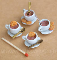 hot chocolate with biscuits by BadgersBakery