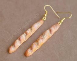 baguette earrings by BadgersBakery
