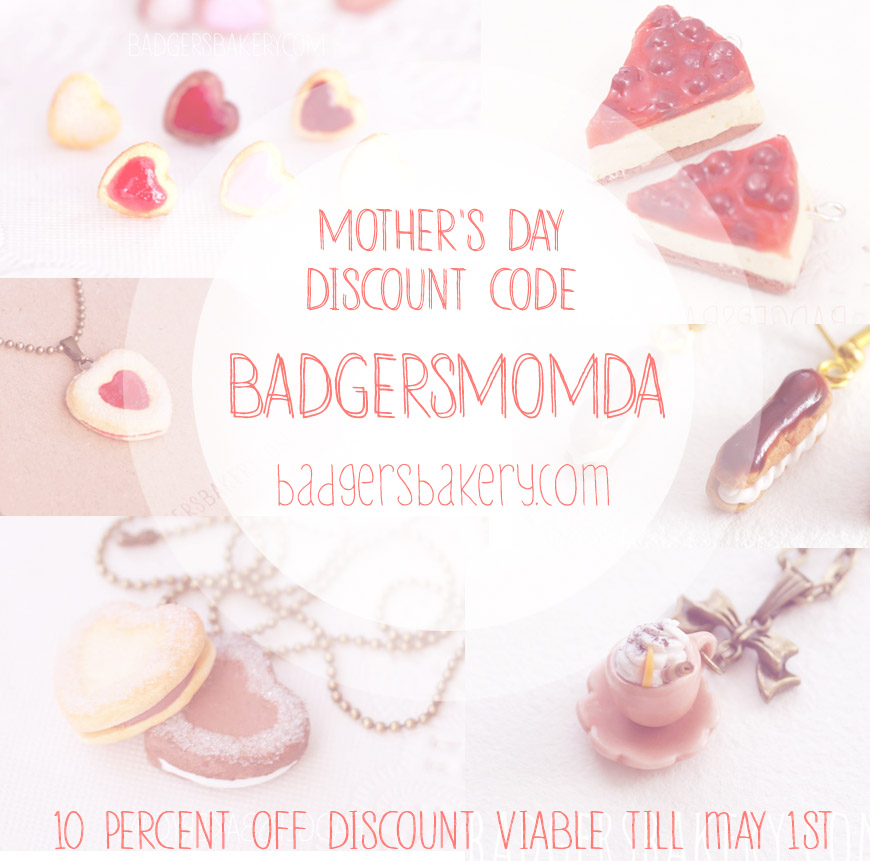 Mother's Day 10% discount code! by BadgersBakery