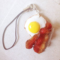 Bacon and Egg Cellphone Charm