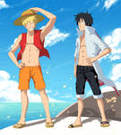SS for IlaB - Naruto and Luffy