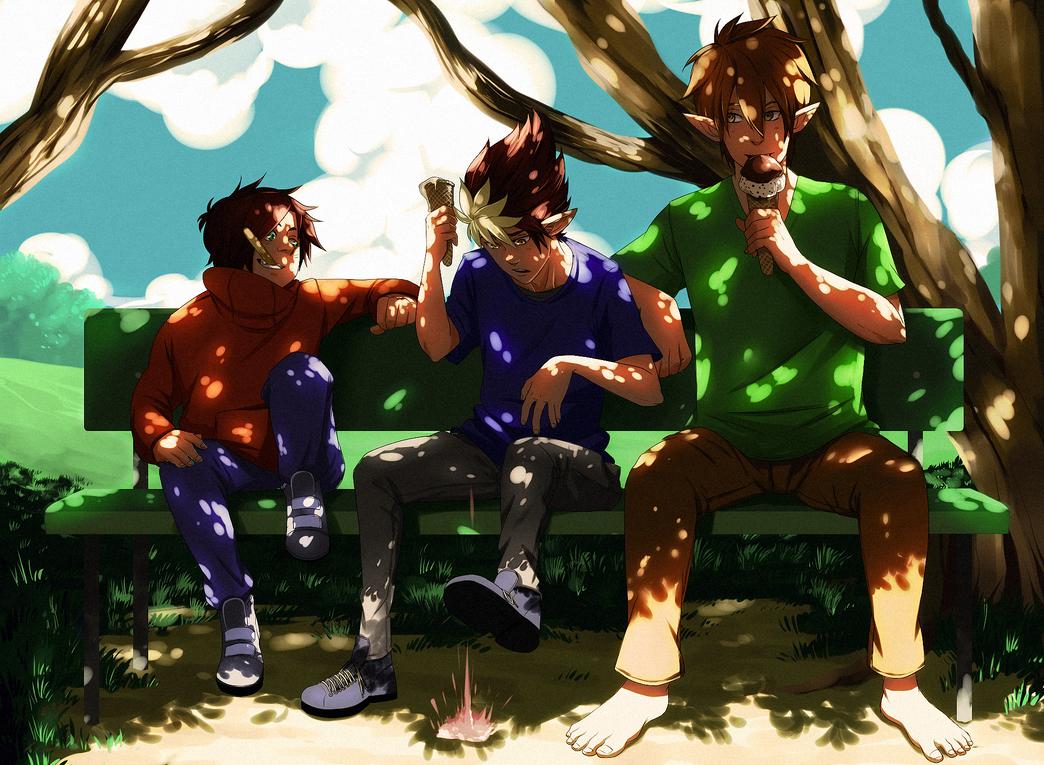 Commission: trio by GaaraJamiE88