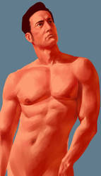 Man with muscles by Shamdu