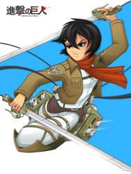 Mikasa Ackerman by mljarmin
