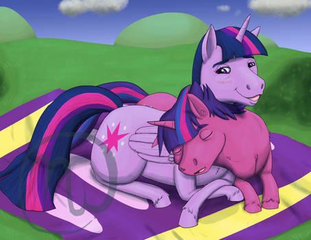 FutureHooves: Still Cuddles with Mother Twilight