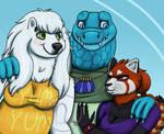EF: Princess Red Panda, Lady Bear, + Azurlligator