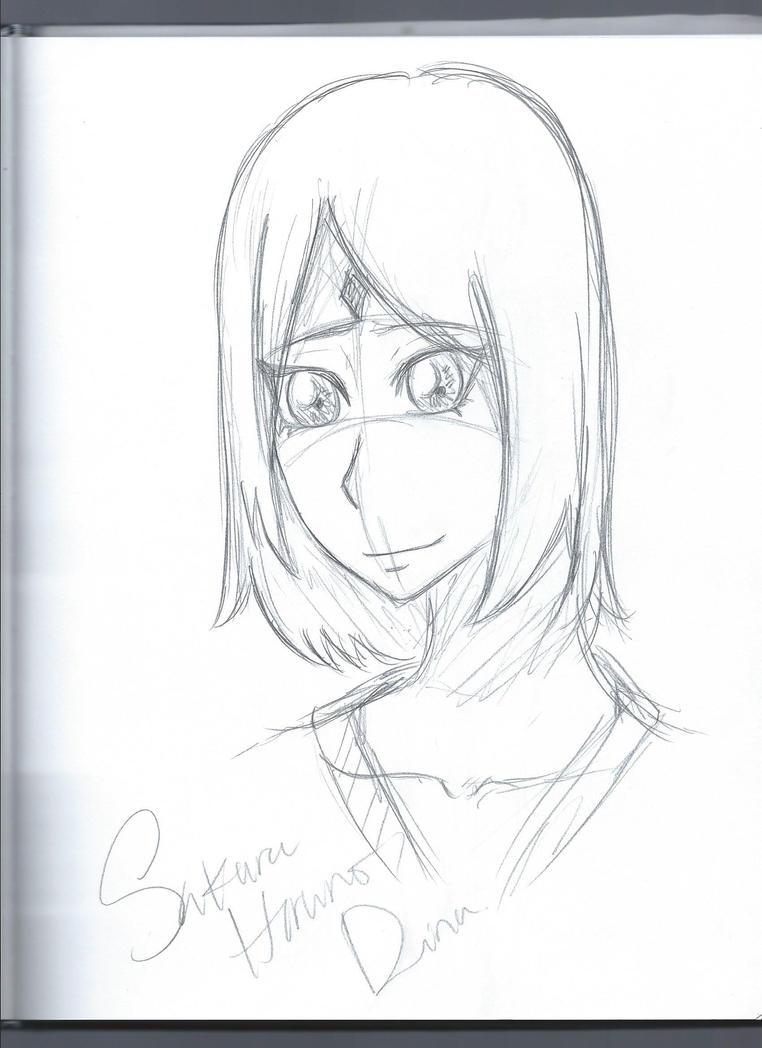 Sakura Haruno Sketch by MoonLightSadness10