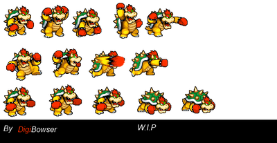 Giga Bowser Sprites Bowser + Boxing Gloves...