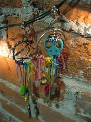 Rainbow Skull Earrings