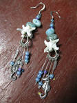 Seahorse and it's Spine Earrings