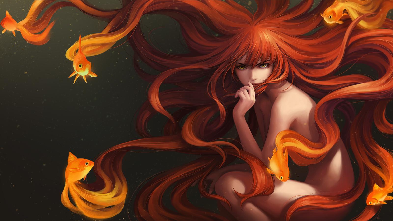 Goldfish_Girl by Unodu