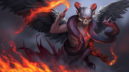 Tarot Devil by Unodu