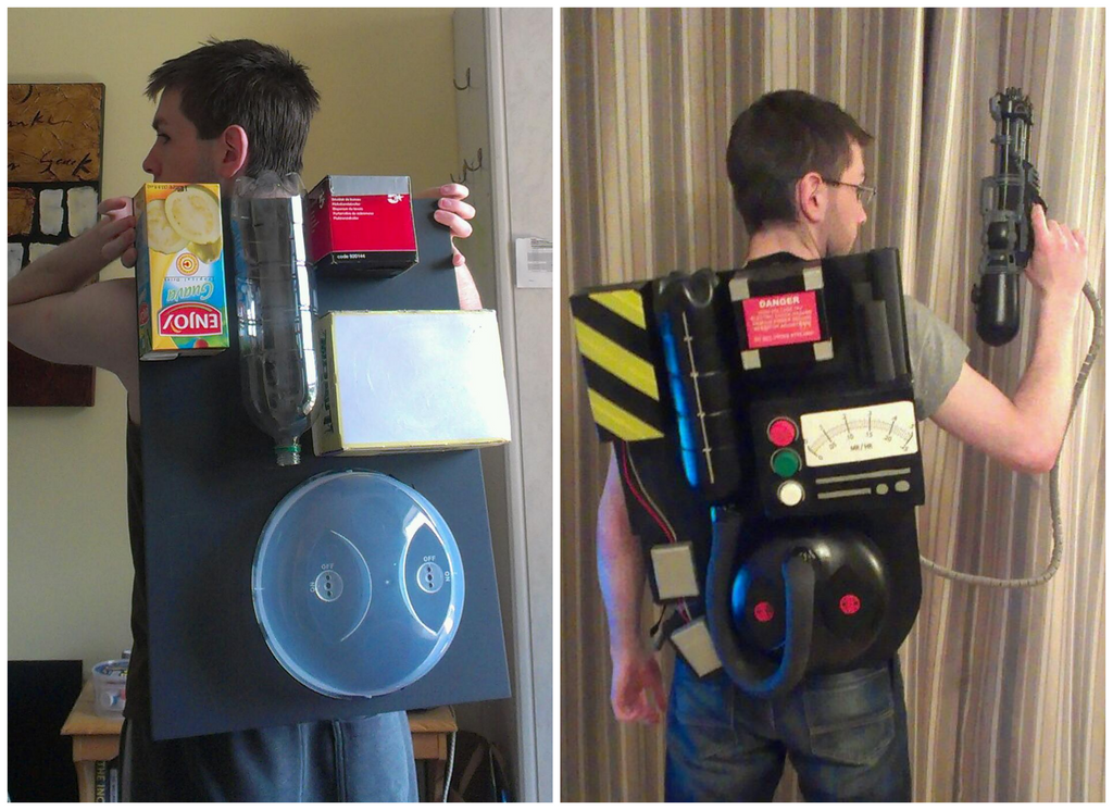 DIY Proton Pack, Before and After by JohnOC89 on DeviantArt
