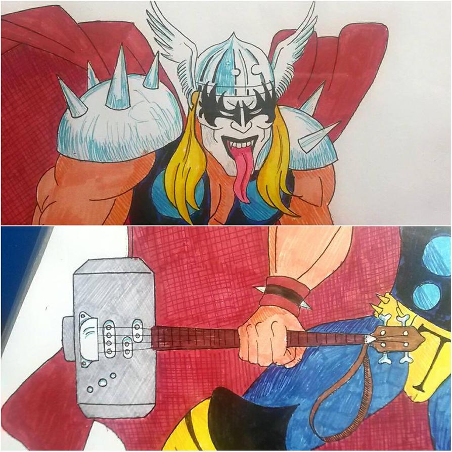 Thor / KISS by JohnOC89
