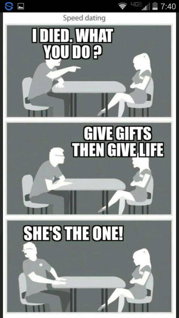 speed dating meme