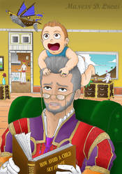 Final Fantasy XII - Balthier and Cid, color