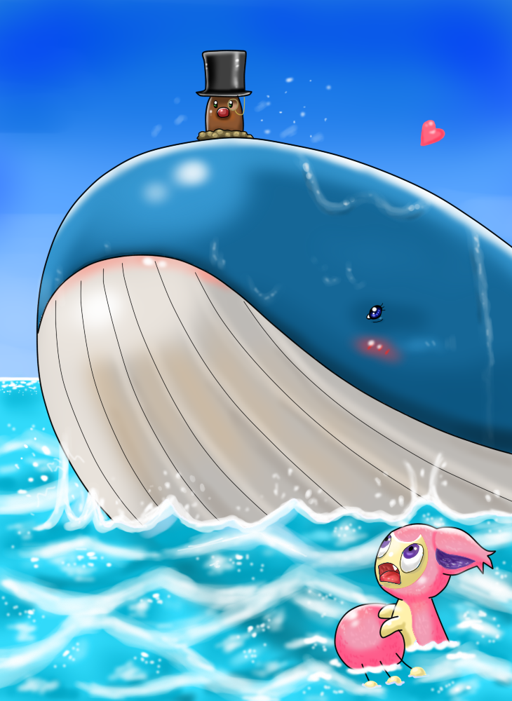 Diglett gets Love by Ayami6 on DeviantArt Wailord And Diglett