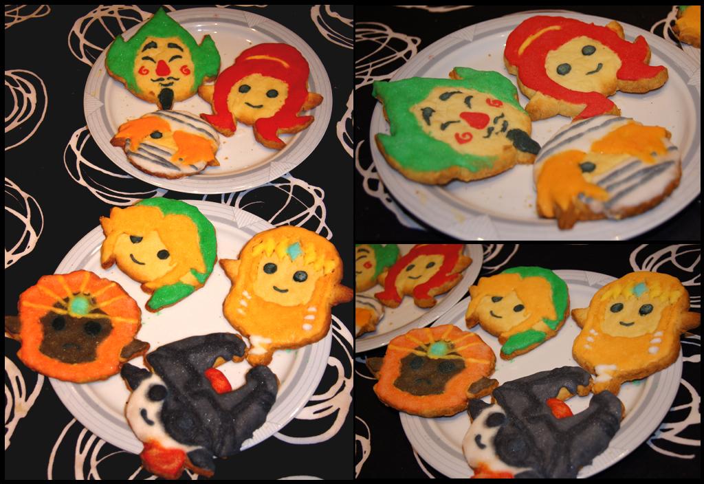 Legend of Zelda cookies by Kitsoow