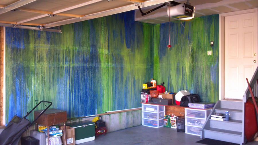 Garage wall painted by mindofthemasons on deviantart for Pictures of painted garage walls