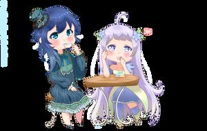 [C] Carmine and Aria by Eiimei