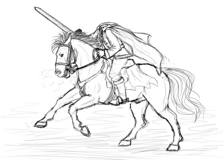 The Headless Horseman By Eleaun On Deviantart Headless Horseman Coloring Pages