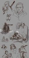 GK: Lots of Golden Kamuy doodles