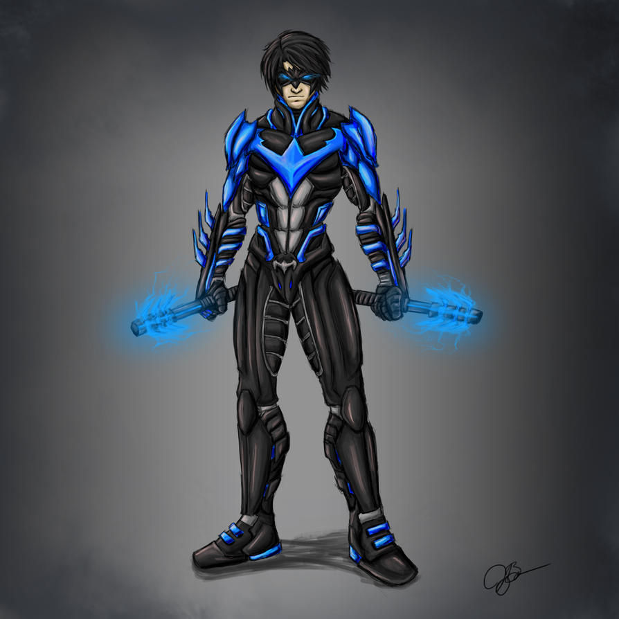 Nightwing - Blue Version by joeybowsergraphics on DeviantArt