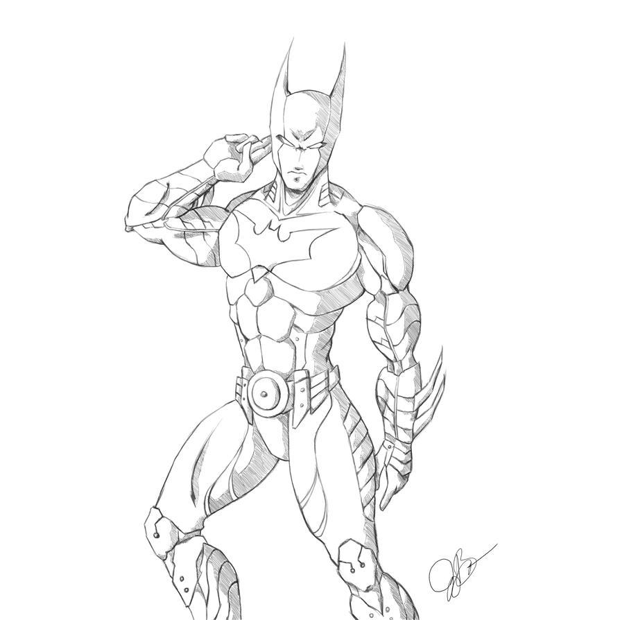 Batman Beyond Sketch by joeybowsergraphics
