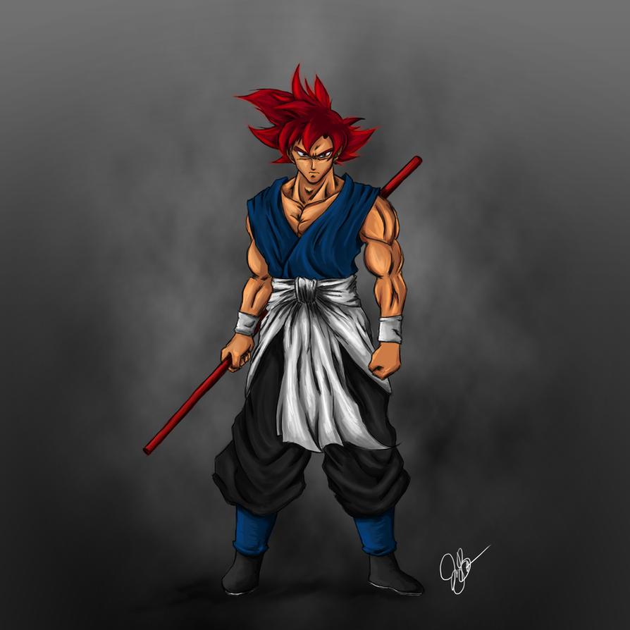 Super Saiyan God Goku by joeybowsergraphics