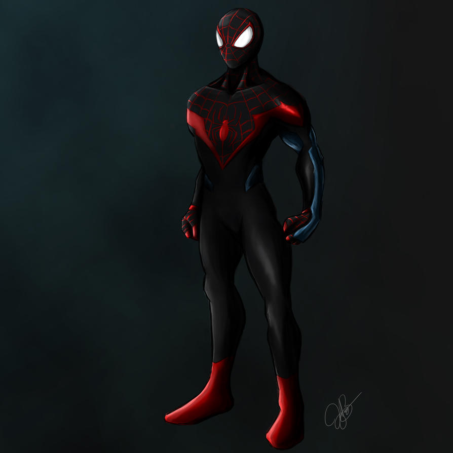 Spider-man - Miles Morales by joeybowsergraphics