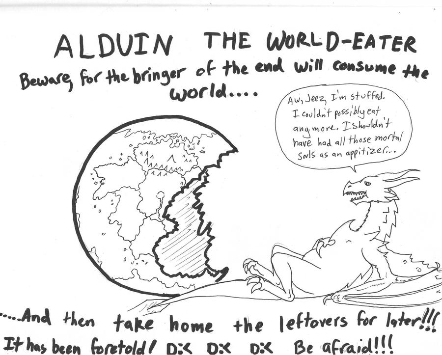 Alduin the fat by dragondoneit