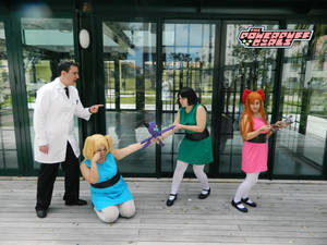 Powerpuff girls and professor