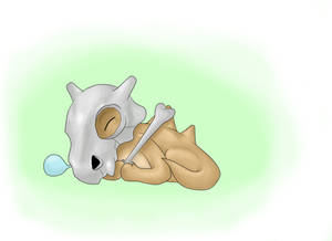 Cubone sleeping