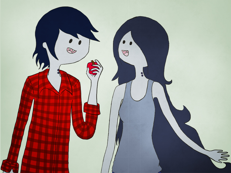 Marceline X Marshall Lee By Asweetcupcake On Deviantart