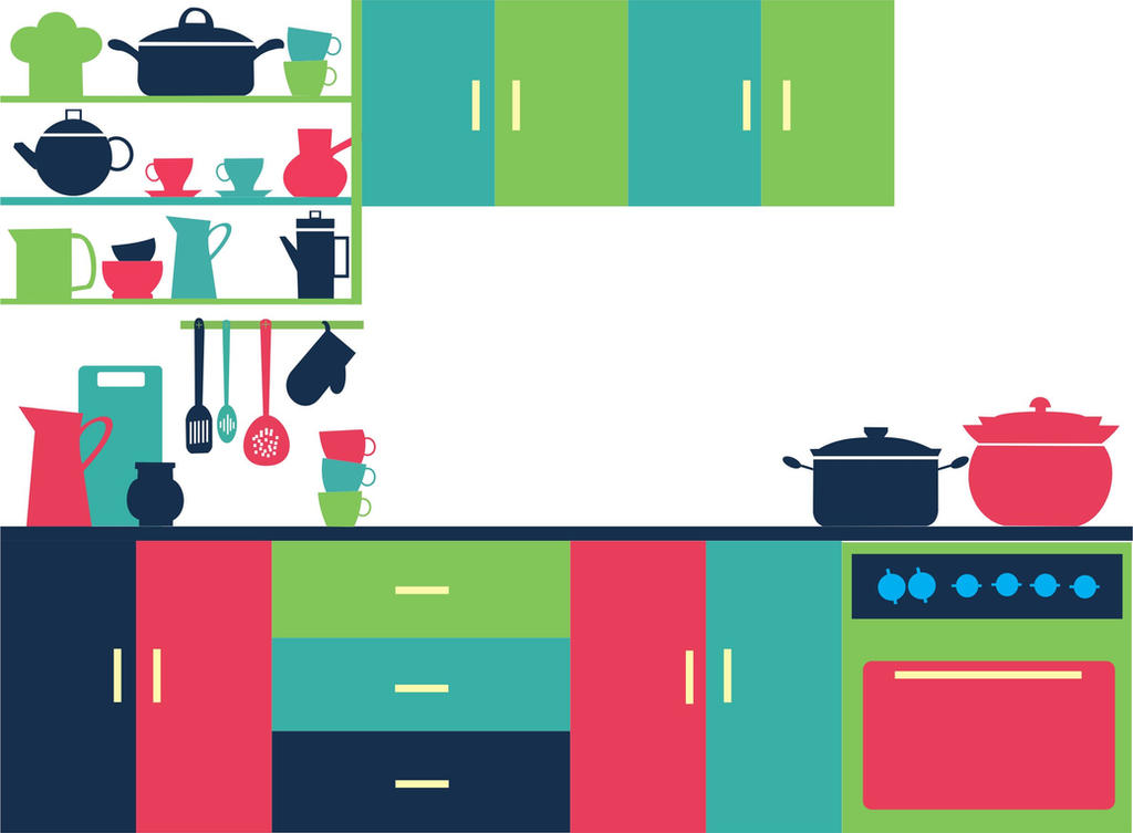 Kitchen vector by sadyaadein on deviantART