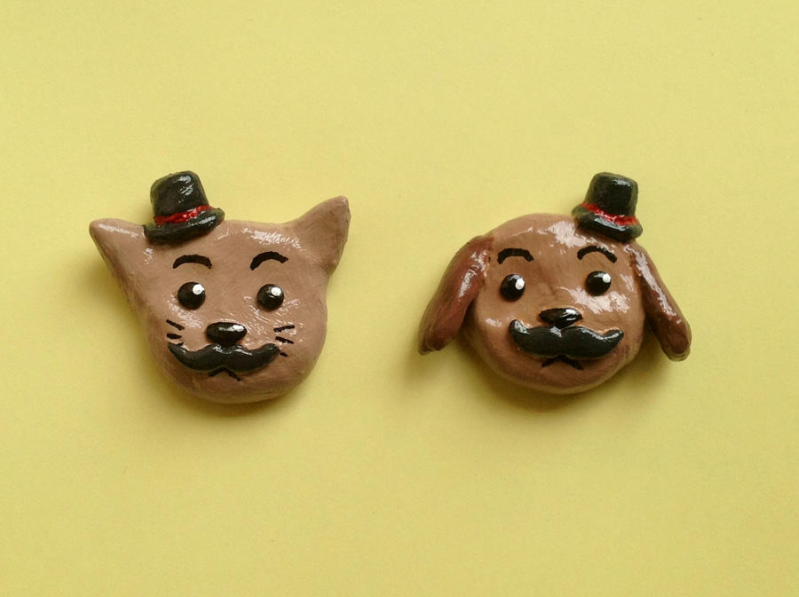 Movember Magnets by yingmakes