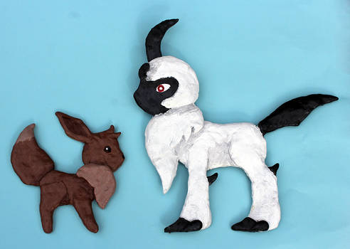 PKMN: Flat Eevee and Absol