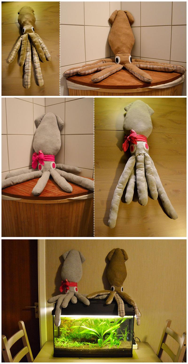 Squid plush prototype by Shegoran