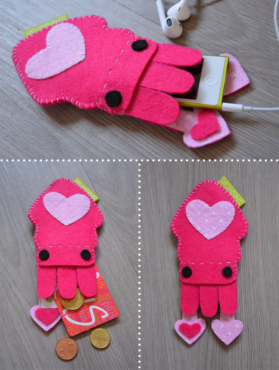 Pink squid case by Shegoran