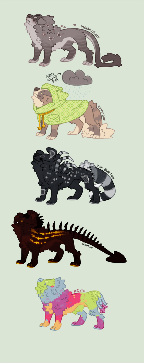 Theme challenge adoptables [auction 2h left ] by Shegoran