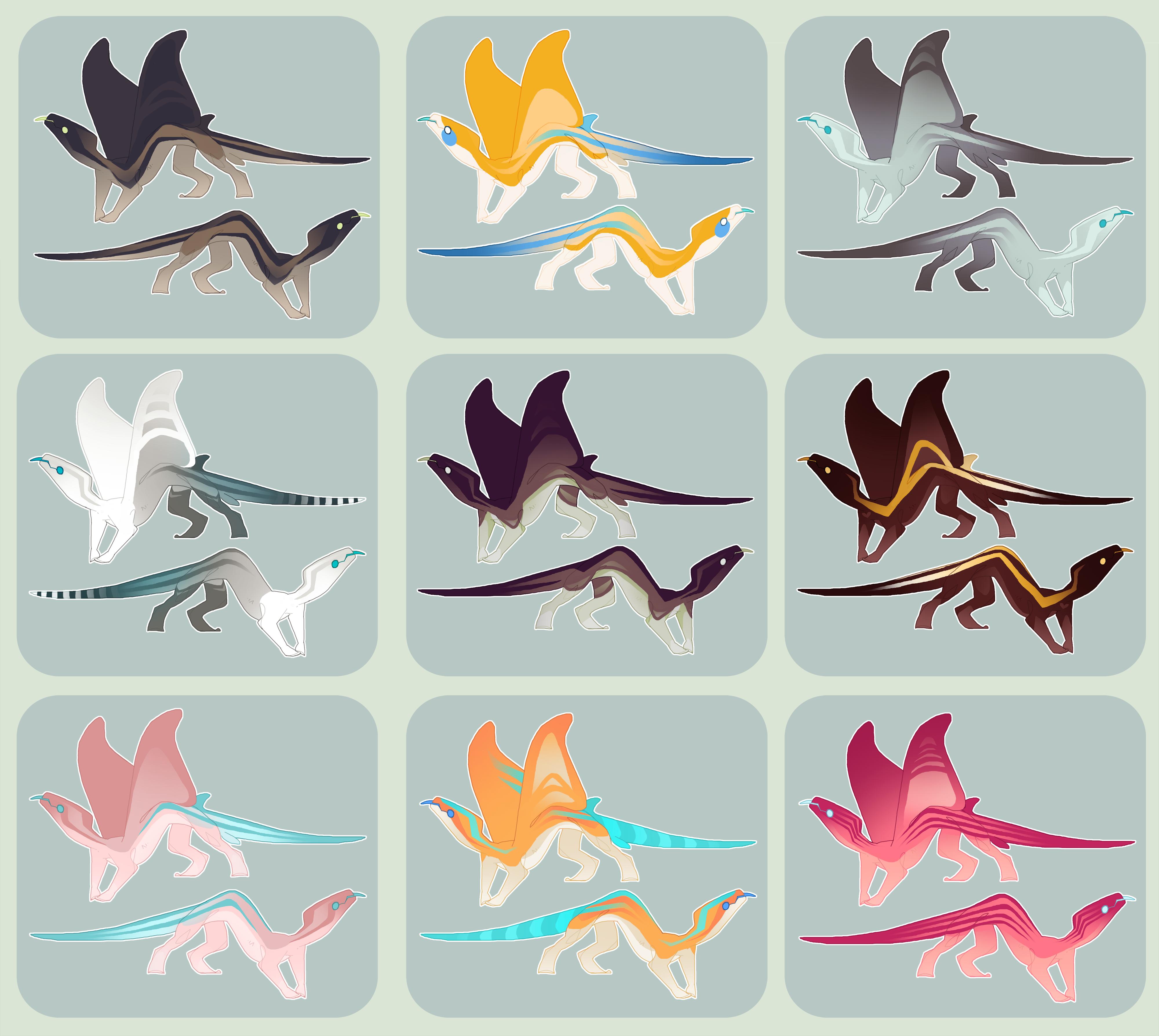Manta Lizard Adoptables by Shegoran